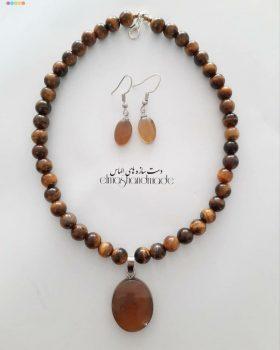 نیم ست گردنبند و گوشواره عقیق - ایران دایرکت